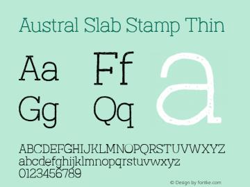 Austral Slab Stamp Thin Version 1.000图片样张