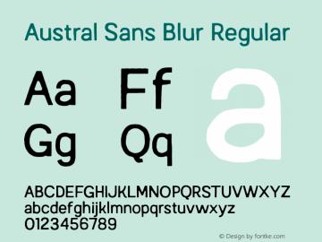 AustralSansBlur-Regular Version 1.000图片样张