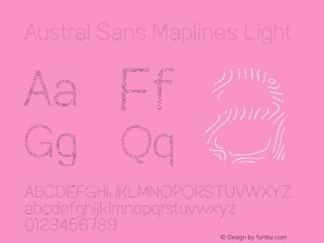 AustralSansMaplines-Light Version 1.000图片样张