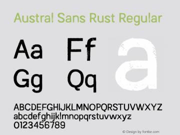 AustralSansRust-Regular Version 1.000图片样张