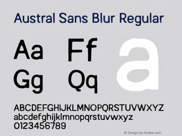 Austral Sans Blur Regular Version 1.000图片样张