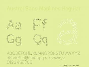 Austral Sans Maplines Regular Version 1.000图片样张