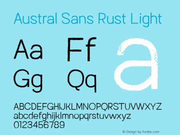 Austral Sans Rust Light Version 1.000图片样张