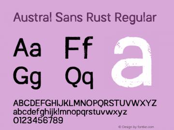 Austral Sans Rust Regular Version 1.000图片样张