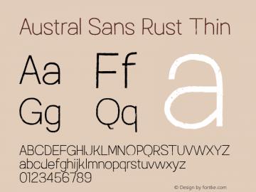 Austral Sans Rust Thin Version 1.000图片样张