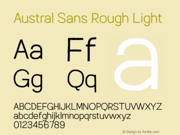 AustralSansRough-Light Version 1.000图片样张