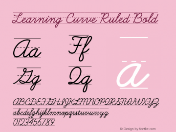 Learning Curve Ruled Bold Version 1.000图片样张