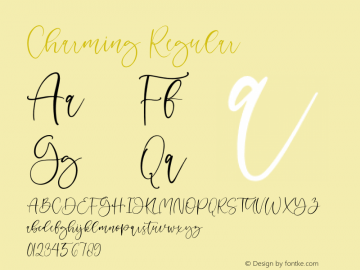 Charming Version 1.00;May 19, 2020;FontCreator 11.5.0.2427 64-bit图片样张