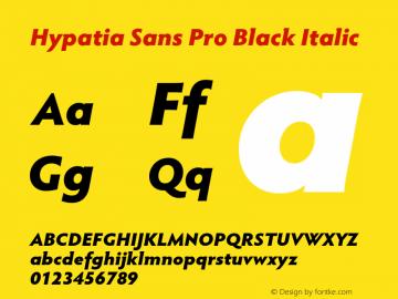 HypatiaSansPro-BlackIt Version 2.073;PS 1.000;hotconv 1.0.68;makeotf.lib2.5.35818图片样张
