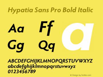 HypatiaSansPro-BoldIt Version 2.073;PS 1.000;hotconv 1.0.68;makeotf.lib2.5.35818图片样张