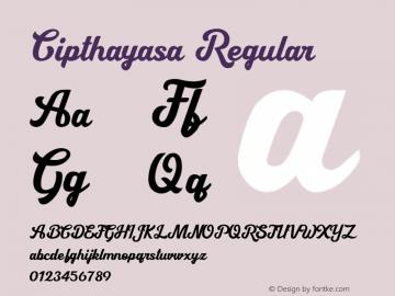 Cipthayasa Version 1.00;May 16, 2020;FontCreator 13.0.0.2630 64-bit图片样张