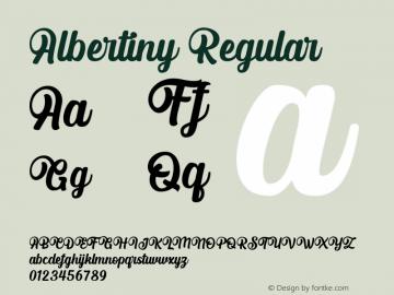 Albertiny Version 1.00;May 16, 2020;FontCreator 13.0.0.2630 64-bit图片样张
