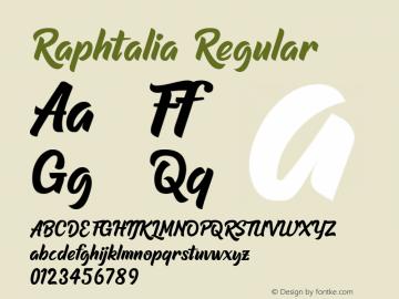Raphtalia Version 1.00;May 16, 2020;FontCreator 13.0.0.2630 64-bit图片样张