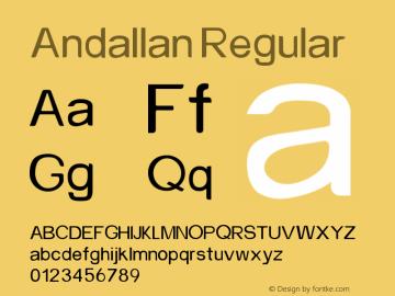Andallan Version 1.041;Fontself Maker 3.5.1图片样张