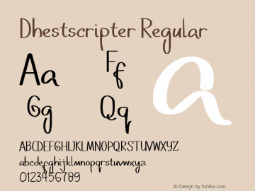 Dhestscripter Version 1.011;Fontself Maker 3.5.1图片样张