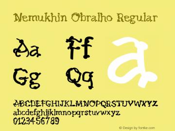Nemukhin Obralho Version 1.002;Fontself Maker 3.5.1图片样张