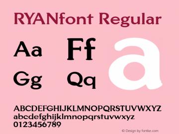 RYANfont Regular Altsys Fontographer 3.5  3/28/01图片样张