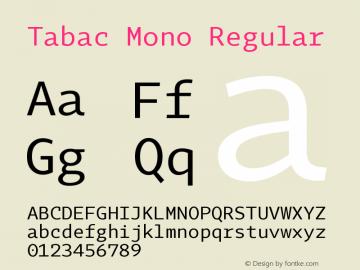 Tabac Mono Version 2.000图片样张