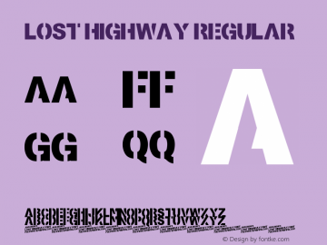 Lost Highway Version 1.0图片样张