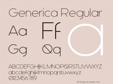 Generica Version 1.00 April 30, 2015, initial release图片样张