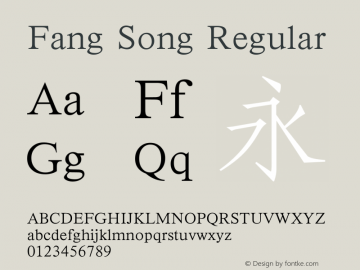 Fang Song Regular 4.1d1e1图片样张