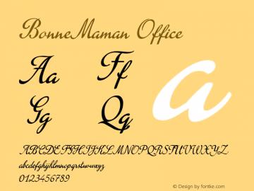 BonneMaman Office Macromedia Fontographer 4.1.5 23/09/04图片样张