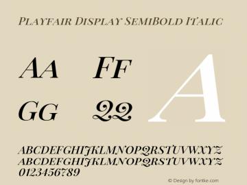 Playfair Display SemiBold Italic Version 1.000图片样张