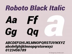 Roboto Black Italic Version 1.100140; 2013图片样张