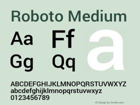 Roboto Medium Version 1.100140; 2013图片样张