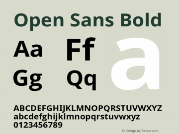 Open Sans Bold Version 1.01图片样张