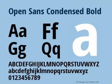 Open Sans Condensed Bold Version 1.10图片样张