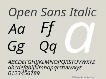 Open Sans Italic Version 1.00图片样张