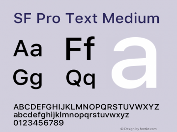 SF Pro Text Medium 13.0d1e33图片样张