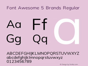 Font Awesome 5 Brands Regular 5.1 (build: 1531848272)图片样张