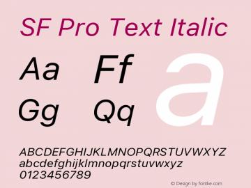 SF Pro Text Italic 13.0d1e33图片样张