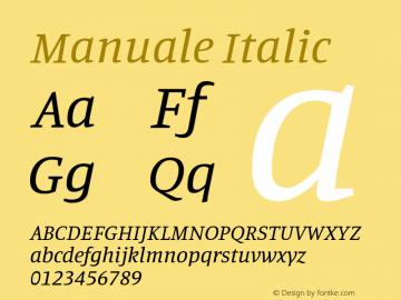 Manuale Italic Version 1.000; ttfautohint (v1.8.1.43-b0c9)图片样张