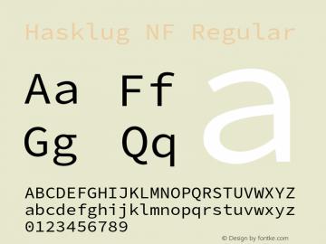 Hasklug Nerd Font Complete Mono Windows Compatible Version 2.030;PS 1.0;hotconv 16.6.51;makeotf.lib2.5.65220 Font Sample