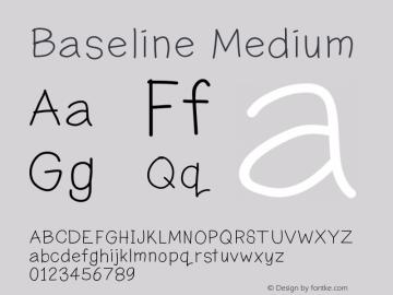 Baseline Medium Version 001.000 Font Sample