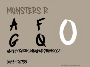 MONSTERS Version 1.00;May 9, 2020;FontCreator 11.5.0.2427 32-bit图片样张