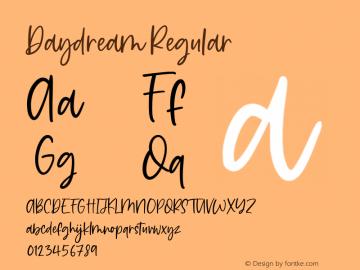 Daydream Version 1.00;May 2, 2020;FontCreator 12.0.0.2547 64-bit图片样张