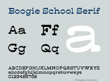 BoogieSchool-Serif Version 1.000 | wf-rip DC20190330图片样张