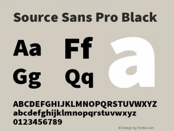 Source Sans Pro Black Version 2.010;PS Version 2.0;hotconv 1.0.79;makeotf.lib2.5.61930图片样张