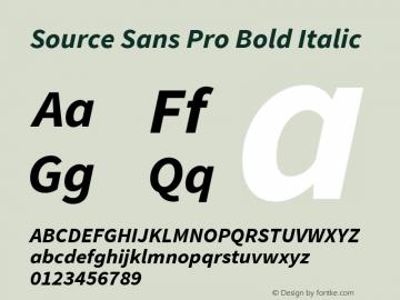 Source Sans Pro Bold Italic Version 1.065;PS Version 2.0;hotconv 1.0.79;makeotf.lib2.5.61930图片样张