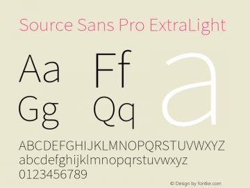 Source Sans Pro ExtraLight Version 2.010;PS 2.0;hotconv 1.0.79;makeotf.lib2.5.61930图片样张