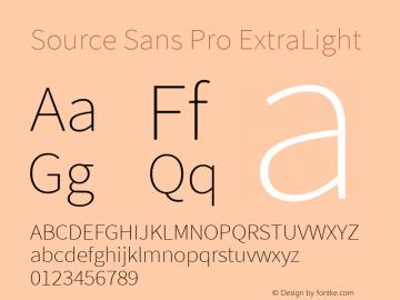 Source Sans Pro ExtraLight Version 2.010;PS Version 2.0;hotconv 1.0.79;makeotf.lib2.5.61930图片样张