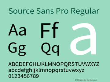 Source Sans Pro Version 2.010;PS Version 2.0;hotconv 1.0.79;makeotf.lib2.5.61930图片样张