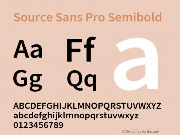 Source Sans Pro Semibold Version 2.010;PS Version 2.0;hotconv 1.0.79;makeotf.lib2.5.61930图片样张