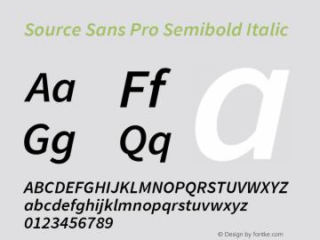 Source Sans Pro Semibold Italic Version 1.065;PS Version 2.0;hotconv 1.0.79;makeotf.lib2.5.61930图片样张