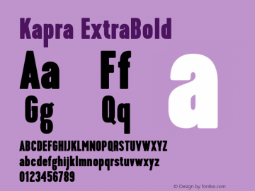 Kapra-ExtraBold Version 1.000;PS 001.001;hotconv 1.0.56图片样张