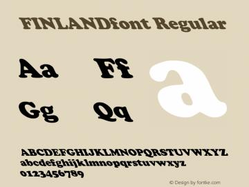 FINLANDfont Regular Altsys Fontographer 3.5  4/3/01图片样张